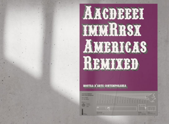 americas remixed: visual identity research for an art contemporary show