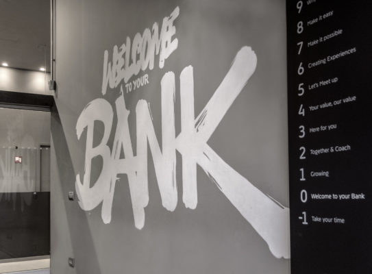 from typography to wayfinding, how to create the brand identity of a no ordinary bank
